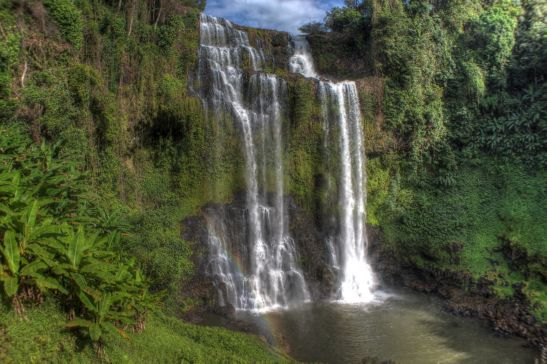 Laos Reise, LLT005, 06, Tad Yueang Waterfall