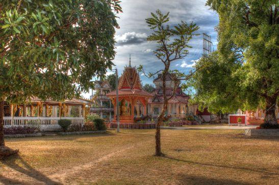 Laos Reise, LLT006, 04, Wat Don Koh Island