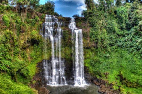 Laos Reisen Foto Tad Yuang Waterfall 6