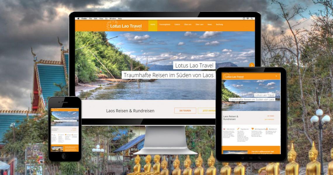 Webseite Lotus Laos Reisen und Rundreisen